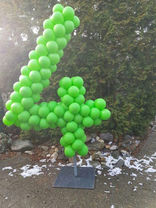 ballonnencijfer 4 op frame