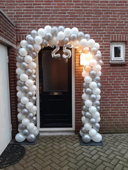 Ballonnenboog 25 jaar getrouwd
