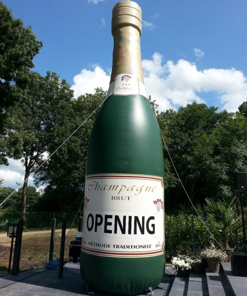 opblaasbare champagnefles
