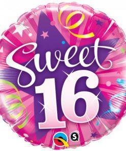 Sweet 16 folie ballon rond