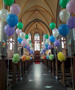 Kerk aankleding Communie Helium ballonnen