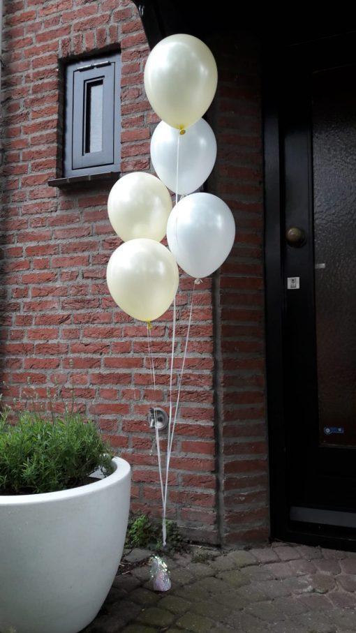 vloerdecoratie 5 ballonnen