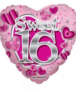 Folie ballon sweet sixteen hart