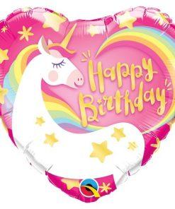 Folie ballon unicorn hart