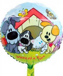 Folie ballon Woezel en Pip