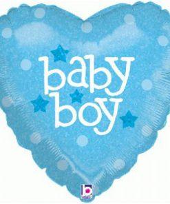 Folie ballon baby boy hart