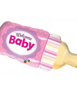 Folie ballon baby girl fles