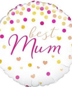 Folie ballon Moederdag best mum