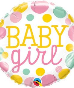 Folie ballon Baby girl dots