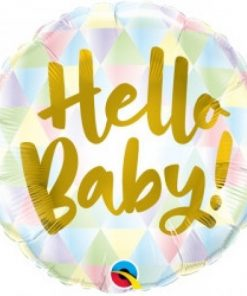 Folie ballon hello baby