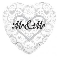 Folie ballon Mr. and Mr.