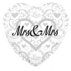 Folie ballon Mrs. and Mrs.