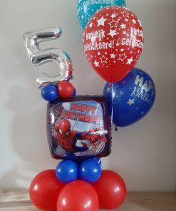 Ballonboeket met folie cijfers