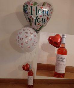 Ballonboeket love & Wine