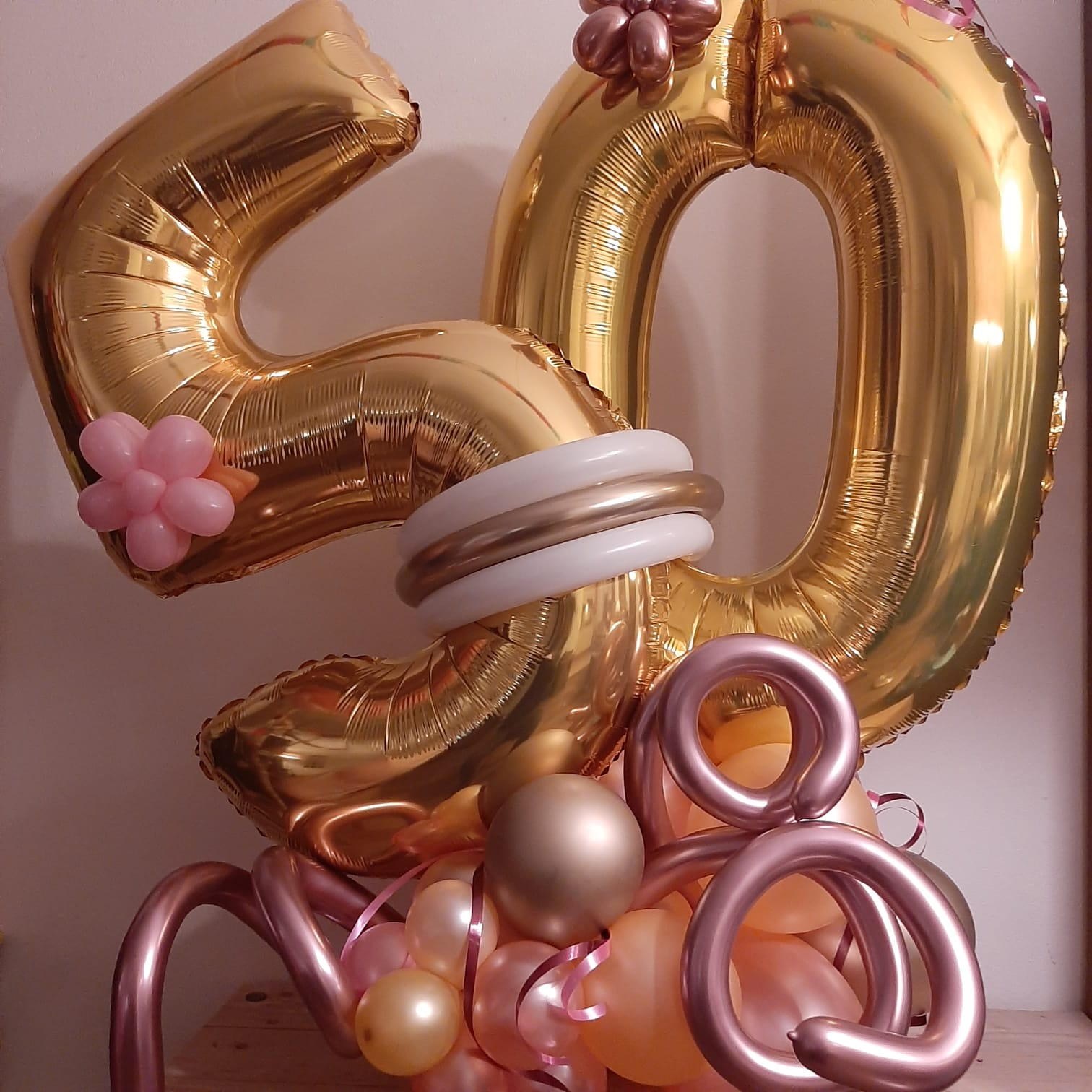 Ballonboeket folie cijfers groot