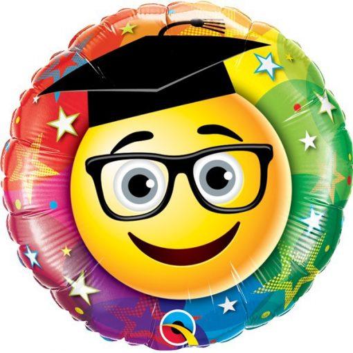 Folie ballon geslaagd smiley